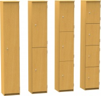 Wooden Cloakroom Lockers