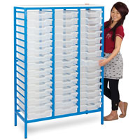 Static Metal School Tray Storage