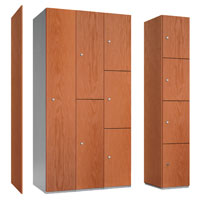Probe Timber Box MDF Laminate Faced Lockers