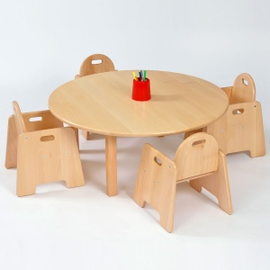 Nursery Round Wooden Table & Chairs (140SH) Package