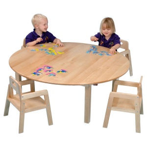 Childrens Round Solid Beech Table (ø1200mm)