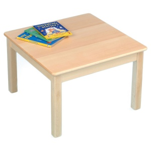 Children's Square Solid Wooden Table (690 x 690mm)