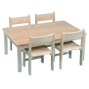 Childrens Rectangular Solid Wooden Table (960 x 690mm)