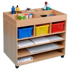 Paper / Art Material Trolley Including 3 Trays