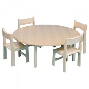 Children's Round Wooden Veneer Table (ø1000mm)