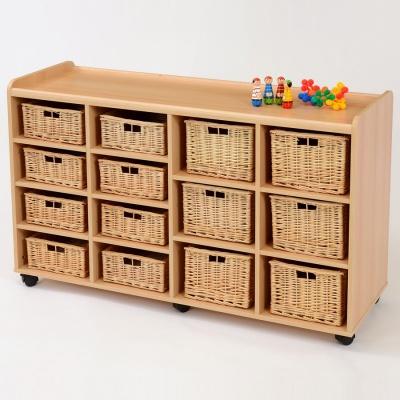 8 shallow 8 deep wicker basket flexi storage unit. Black Bedroom Furniture Sets. Home Design Ideas