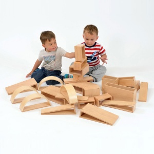Nursery Brico Wooden Building Blocks - Pack of 40