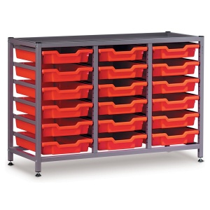 Low 3 Bay Science Storage - 18 Shallow Trays