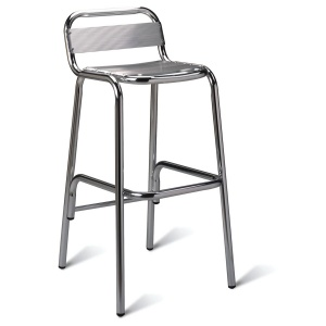 Aluminium Outdoor School Cafe Stool