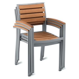 geneva teak outdoor cafe armchair