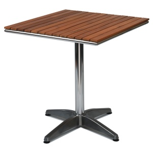 Monaco Teak Top Outdoor Square Table