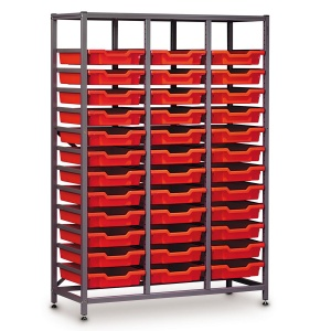 Mid-Height 3 Bay Science Storage - 36 Shallow Trays