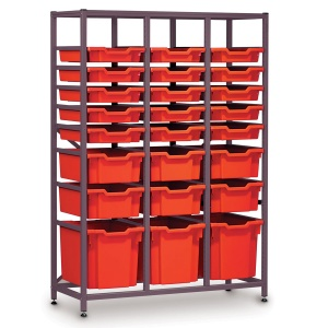 Mid-Height 3 Bay Science Storage - Multi-Tray