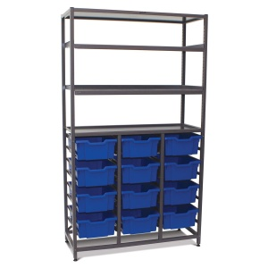 Mid-Height 3 Bay Science Storage - Shallow / Deep Trays