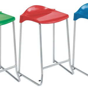 Advanced Low-Back Skid-Base Stool