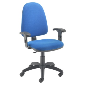 Zoom High-Back Operator Chair + Buzz Adjustable Arms