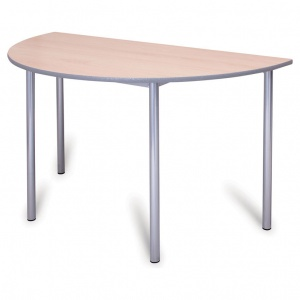 Advanced Chunky Half-Round School Table + PU Edge