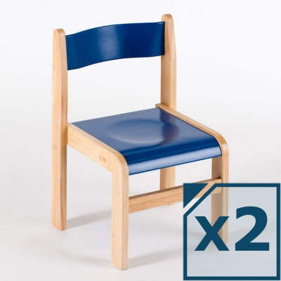 Tuf Class™ Wooden Chair Blue (Pack of 2)