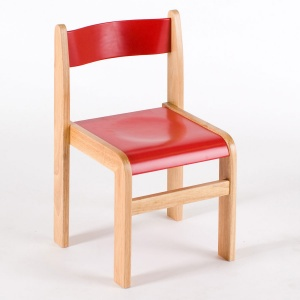 Tuf Class™ Wooden Chair Red (Pack of 2)