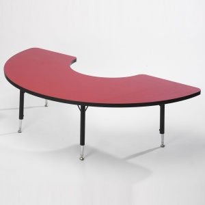 Tuf-Top™ Height Adjustable Arc Tables - Red