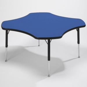 Tuf-Top™ Height Adjustable Clover Tables - Blue