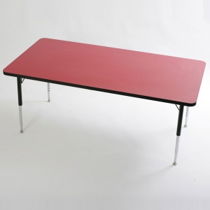 Tuf-Top™ Height Adjustable Rectangular Tables - Red