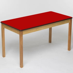 Tuf Class™ Rectangular Table - Red