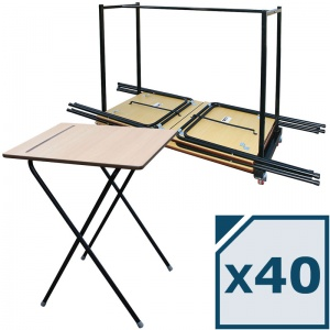zlite® 40 Folding Exam Desk Package