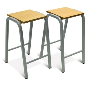 Advanced Heavy-Duty Wooden Top School Stool