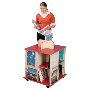 ''Book Cube'' School Book Storage & Display