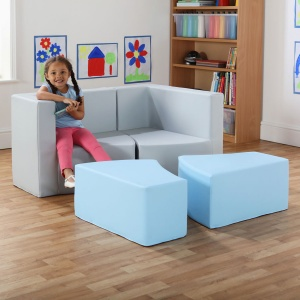 Transform Seating with M-Link™ - Cloud Grey & Sky Blue