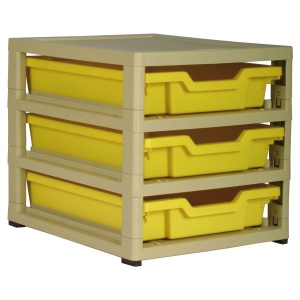 Single GratStack® - 3 Shallow Trays