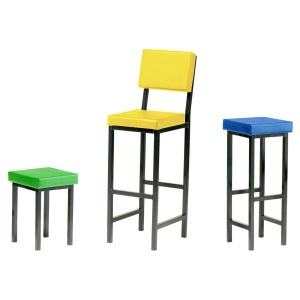 Advanced Square Padded Stool