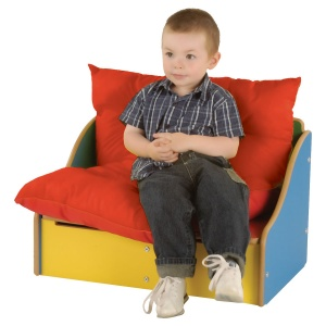 Children's 2 Seat Sofa + Under Seat Store - Multi-Colour