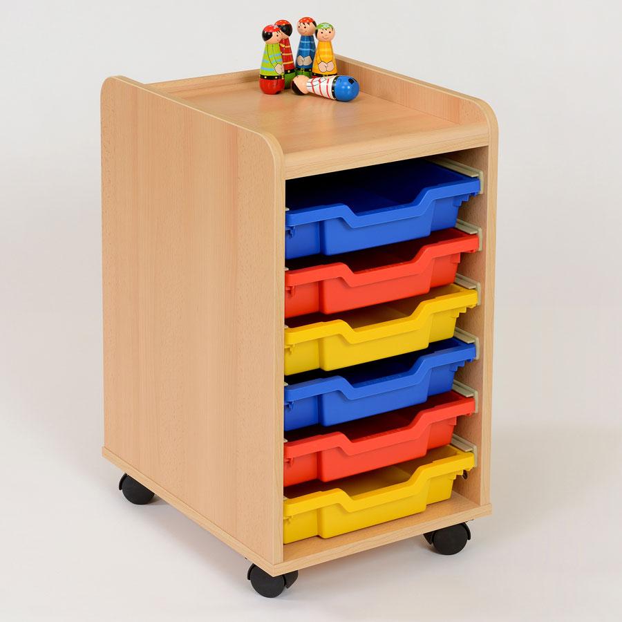 6 shallow tray storage unit. Black Bedroom Furniture Sets. Home Design Ideas