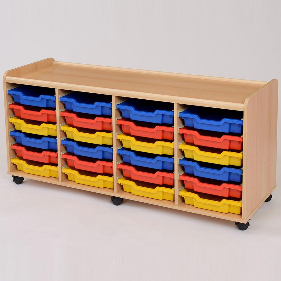 24 shallow tray storage unit. Black Bedroom Furniture Sets. Home Design Ideas