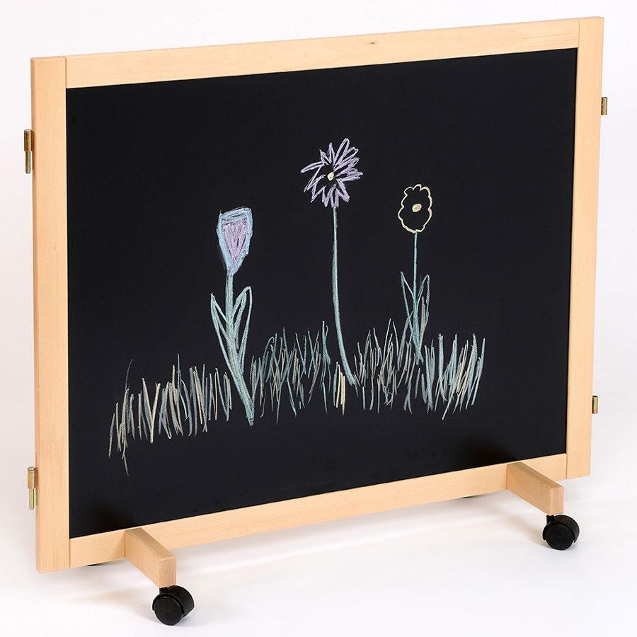 Children 39 s nursery room divider chalkboard cork for Room dividers kids