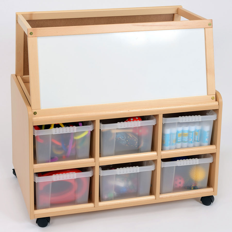 Sided Nursery Resource Unit + Easel & Deep Trays