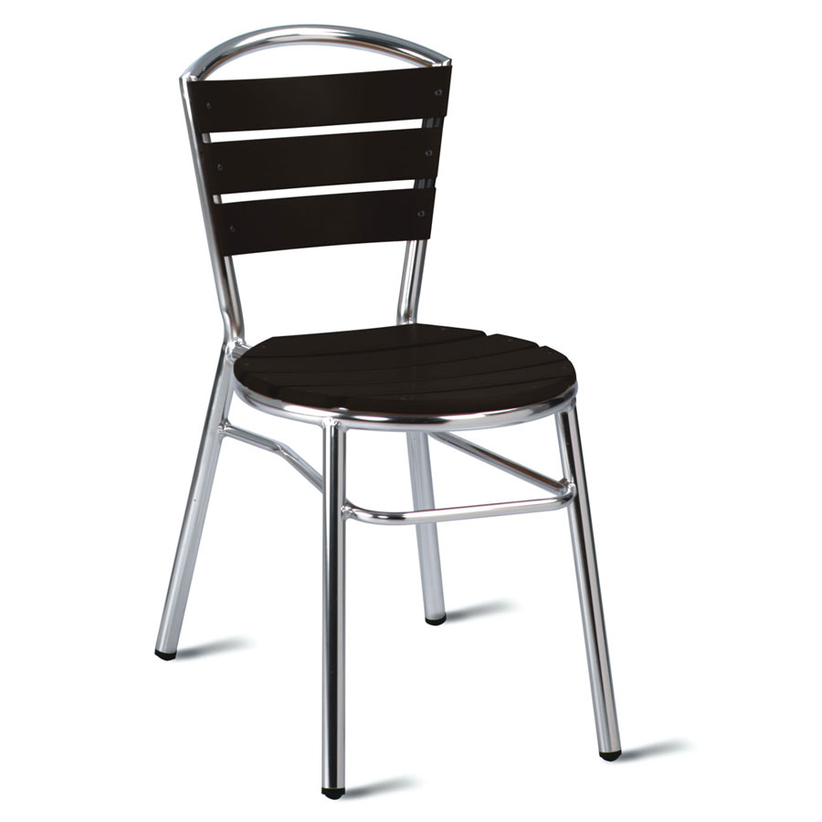 Nice No Wood! Outdoor Cafe Chair - Dark