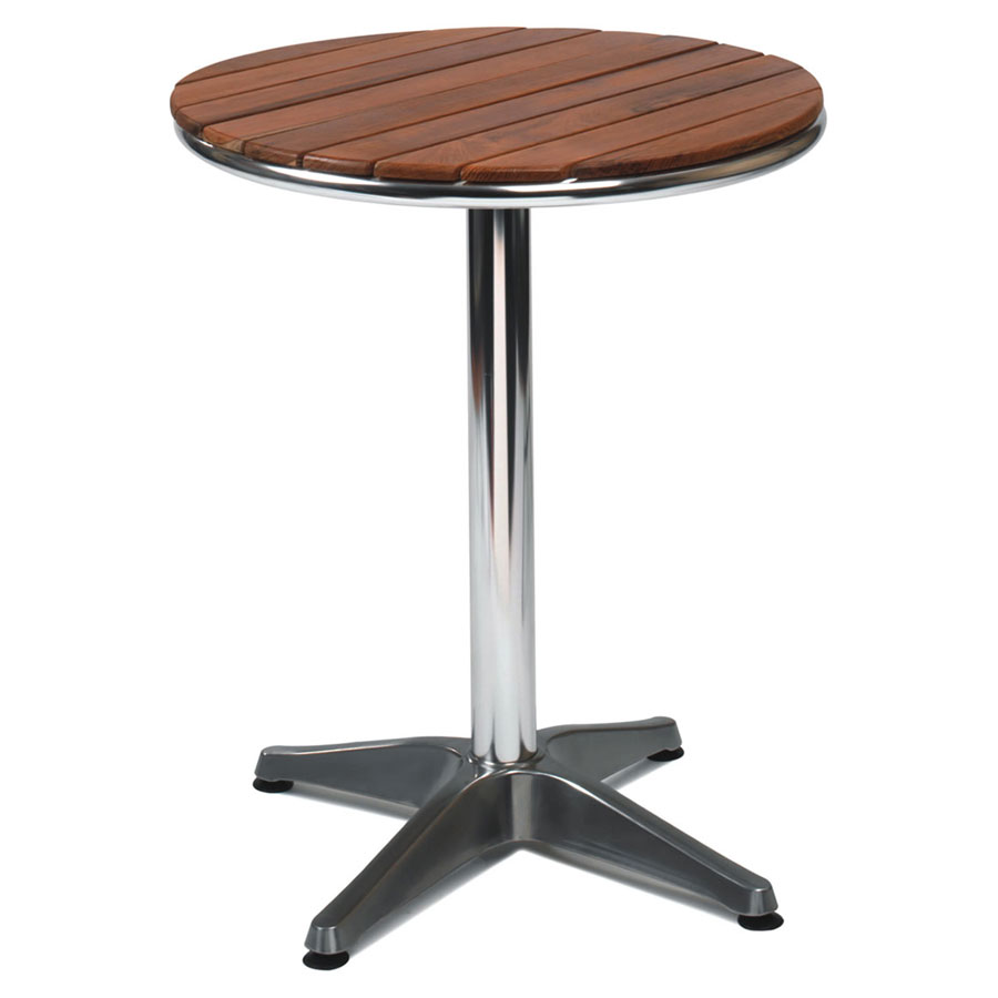 Nice teak top outdoor round table for Nice html table