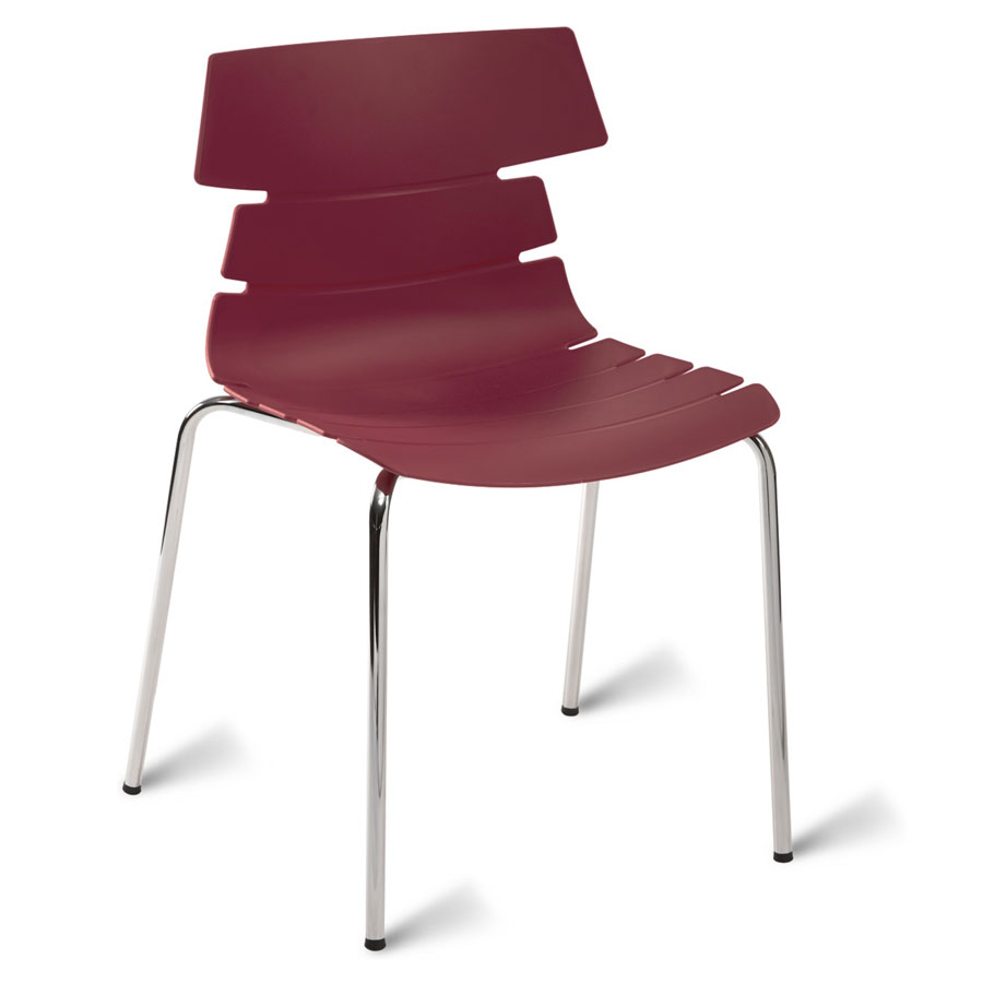 Hoxton 4 leg school cafe chair for Plum dining room chairs