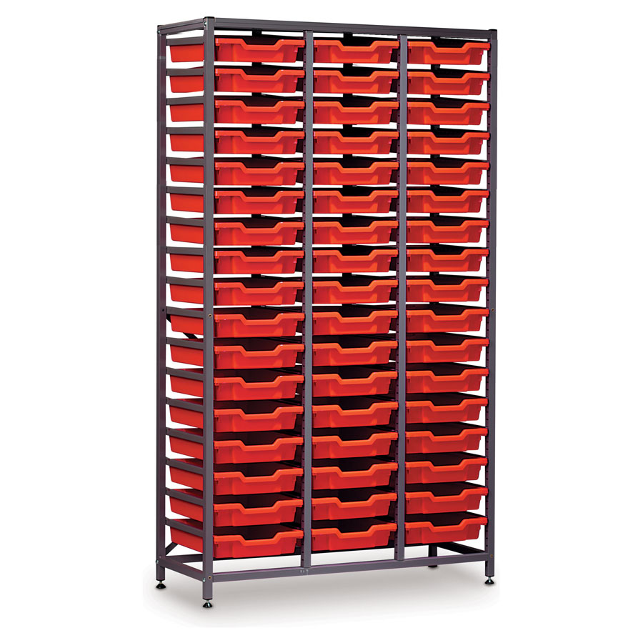 51 shallow tray storage tall triple bay for Storage bay