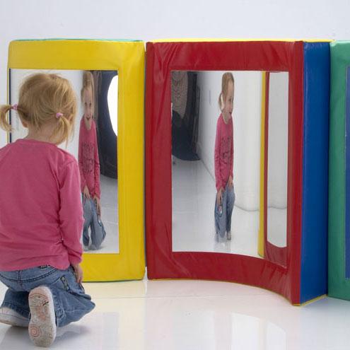 Children S Soft Blocks Triple Mirror Set