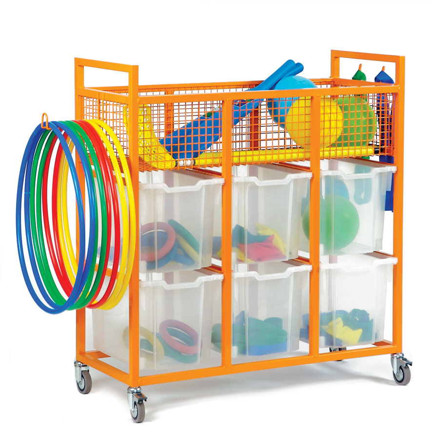 Exceptional Ef1900 Sports Equipment Trolley. Diy Garage Pegboard Outdoor Toy Storage ...