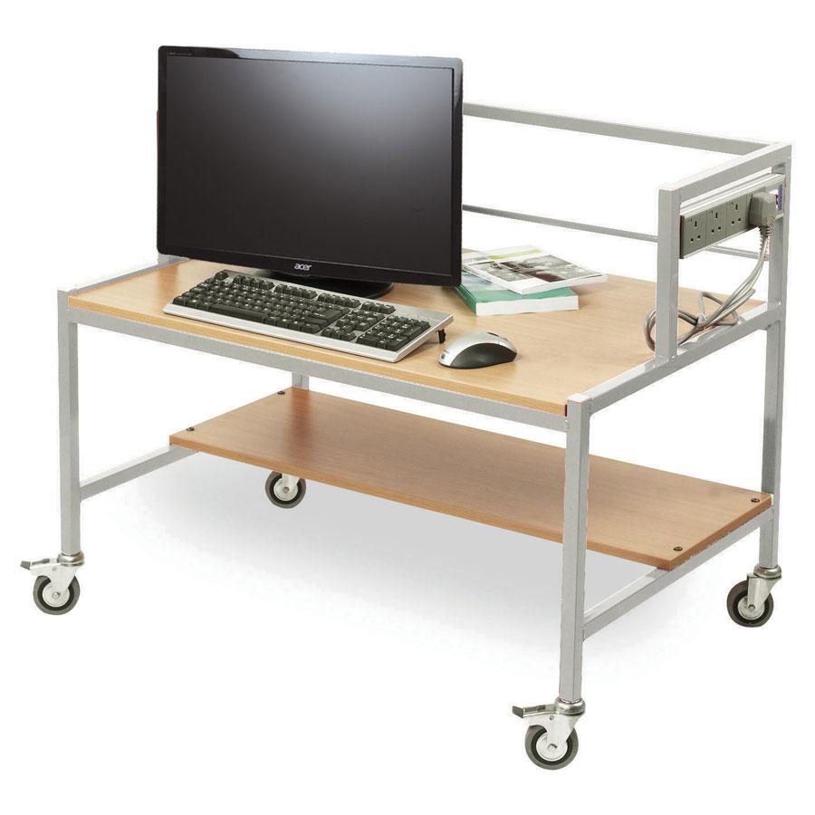 Single Tier Computer Trolley Desk