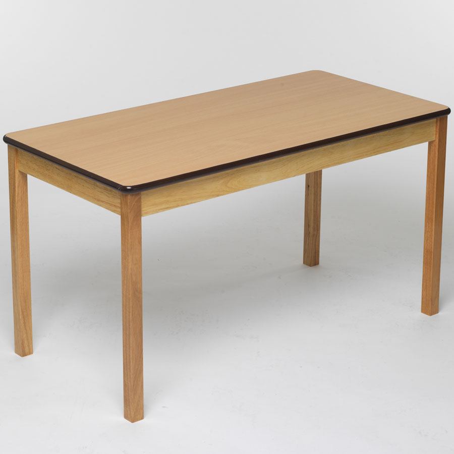 Tuf class rectangular table beech for Html table class