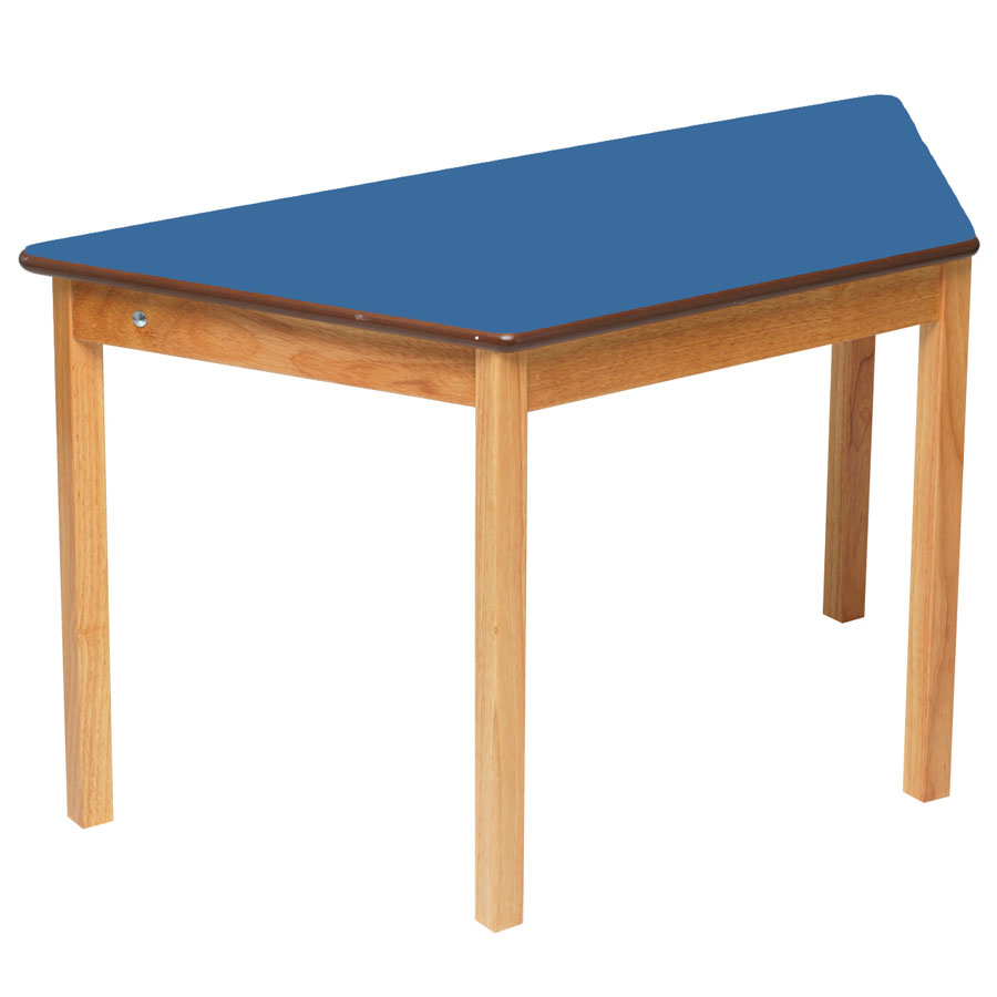 Tuf class trapezoidal table blue for Trapezoid table