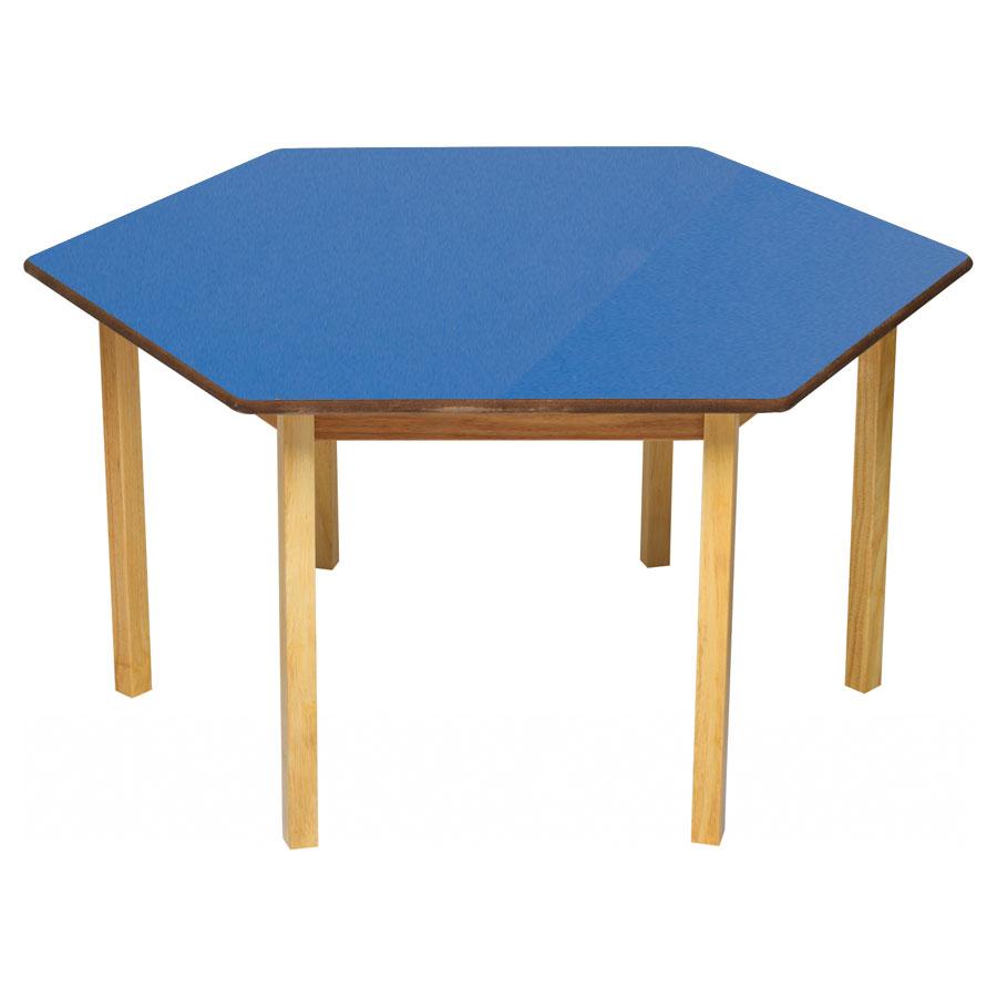 tuf class hexagonal table blue