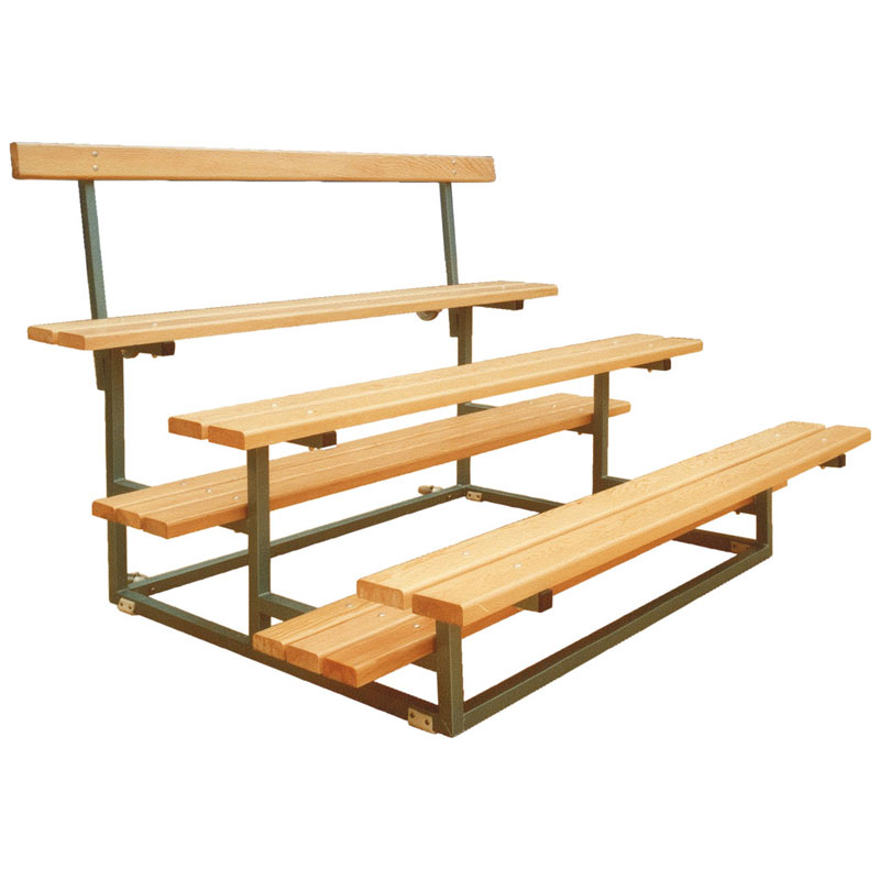 Sports seating three tier wheelaway unit - Naturewood furniture for both indoor and outdoor sitting ...