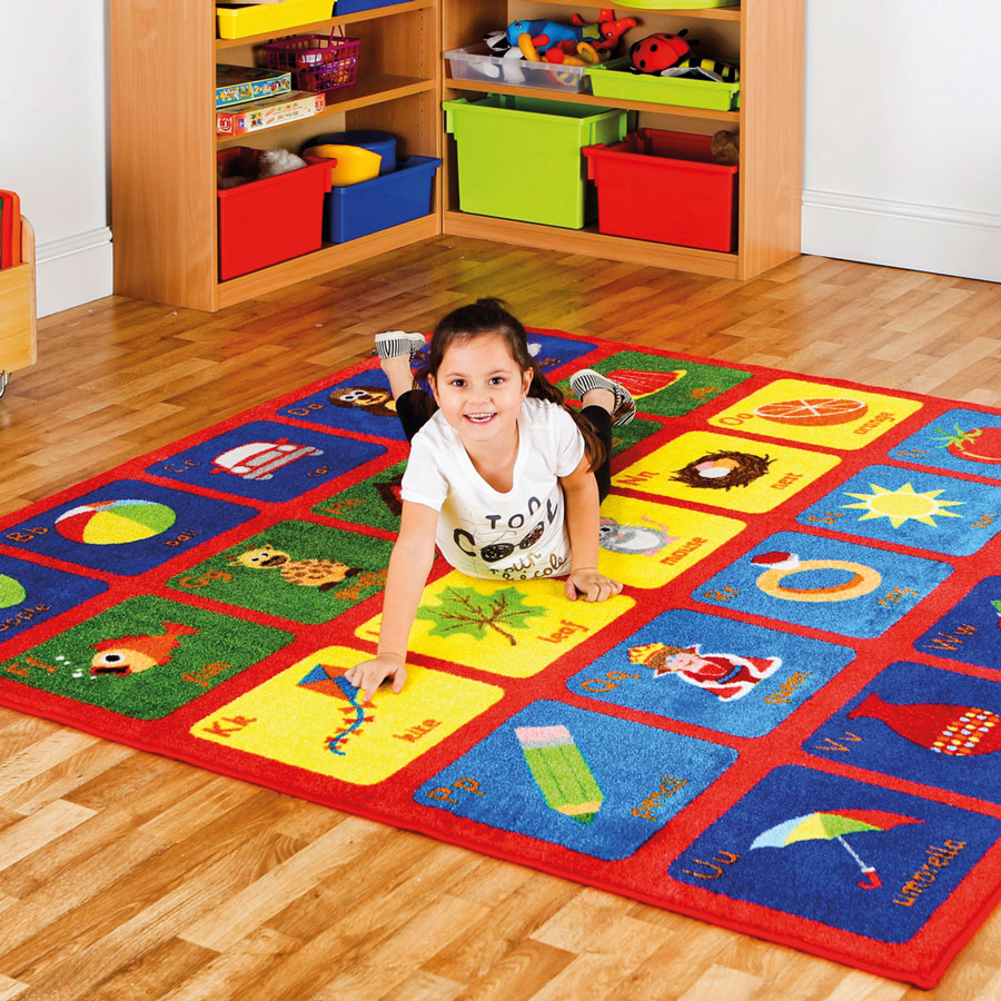 Educational Rugs Cheap: Square Alphabet Carpet